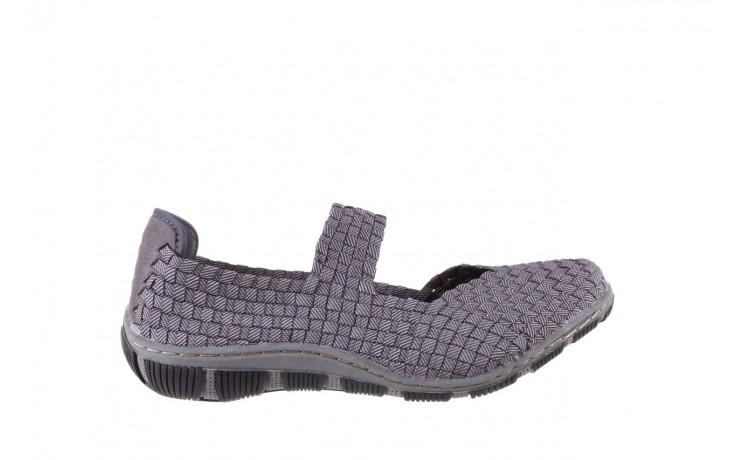 Półbuty rock cape town grey ratan, szary, materiał - obuwie sportowe - buty damskie - kobieta