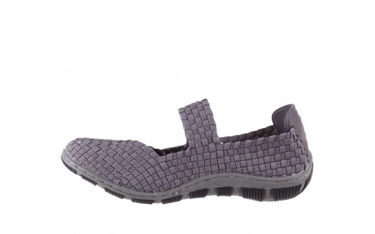 Półbuty rock cape town grey ratan, szary, materiał - obuwie sportowe - buty damskie - kobieta 2