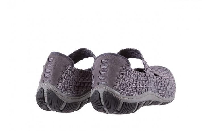 Półbuty rock cape town grey ratan, szary, materiał - obuwie sportowe - buty damskie - kobieta 3