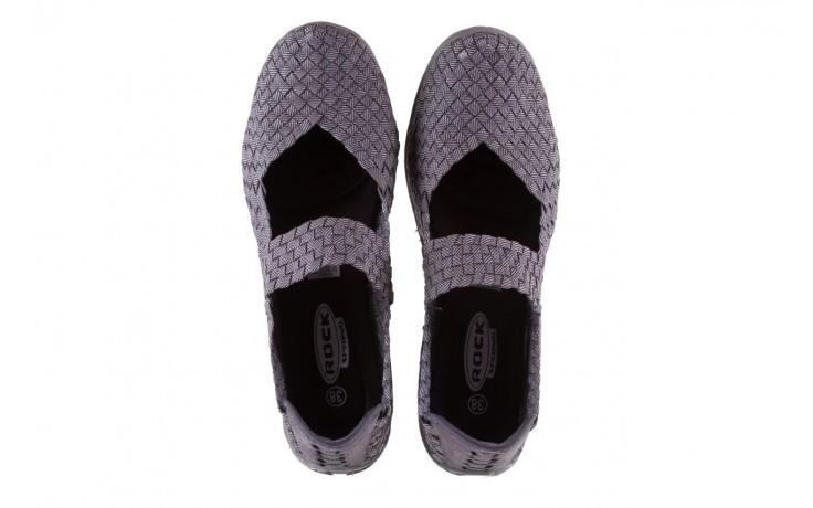 Półbuty rock cape town grey ratan, szary, materiał - obuwie sportowe - buty damskie - kobieta 4