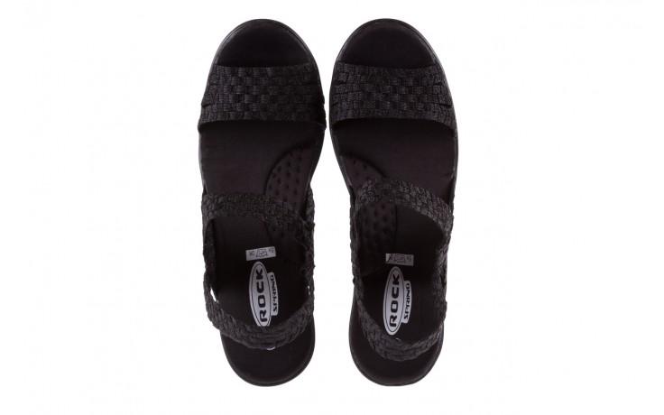 Sandały rock coaster met black, czarny, materiał  - rock - nasze marki 4