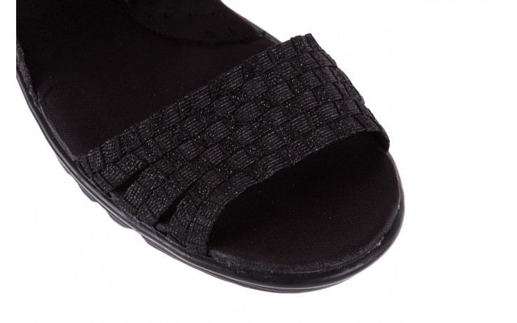 Sandały rock coaster met black, czarny, materiał  - rock - nasze marki 5