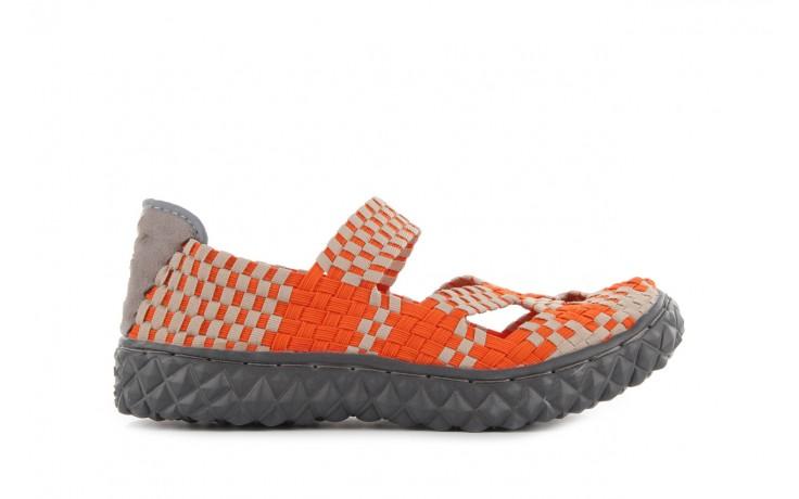 Sandały rock cross orange-beige, pomarańczowy, materiał - rock - nasze marki