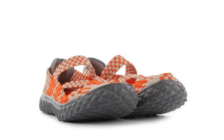 Sandały rock cross orange-beige, pomarańczowy, materiał - rock - nasze marki 1