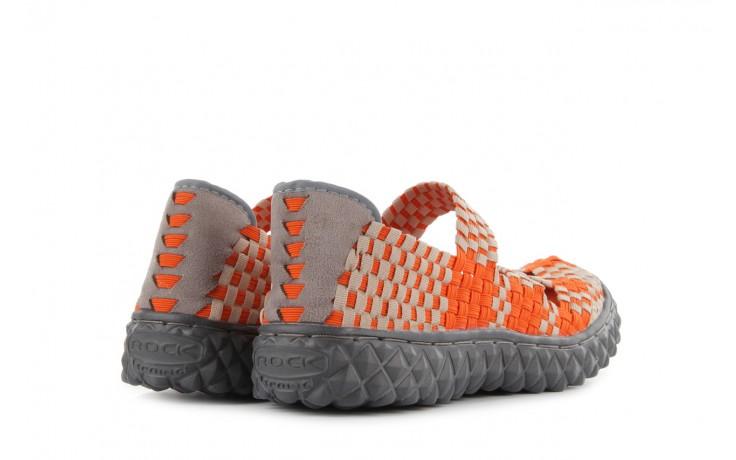 Sandały rock cross orange-beige, pomarańczowy, materiał - rock - nasze marki 3