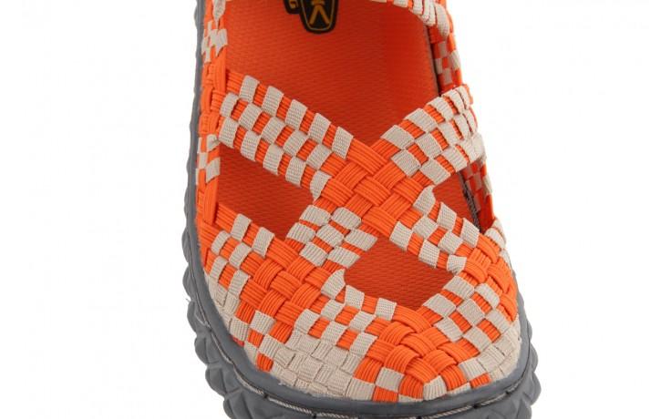 Sandały rock cross orange-beige, pomarańczowy, materiał - rock - nasze marki 5