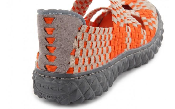 Sandały rock cross orange-beige, pomarańczowy, materiał - rock - nasze marki 6