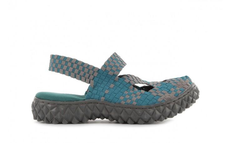 Sandały rock cross sandal petrol grey, niebieski, materiał - rock - nasze marki