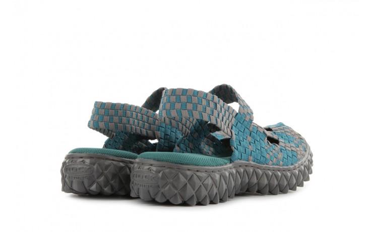 Sandały rock cross sandal petrol grey, niebieski, materiał - rock - nasze marki 3