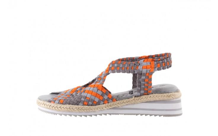 Sandały rock dafoa grey orange dark grey, pomarańczowy/szary, materiał  - rock - nasze marki 2