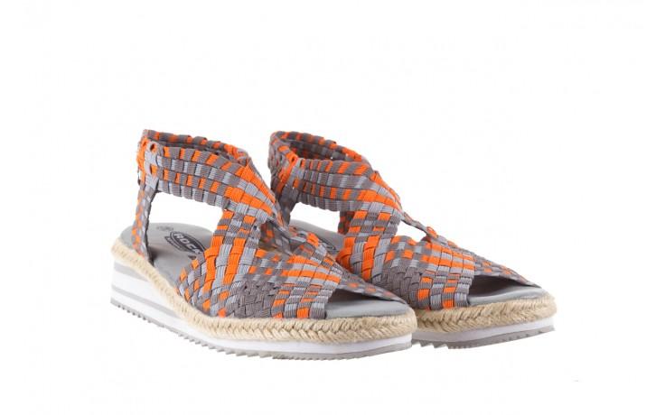 Sandały rock dafoa grey orange dark grey, pomarańczowy/szary, materiał  - rock - nasze marki 1