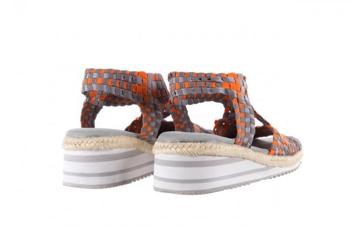 Sandały rock dafoa grey orange dark grey, pomarańczowy/szary, materiał  - rock - nasze marki 3