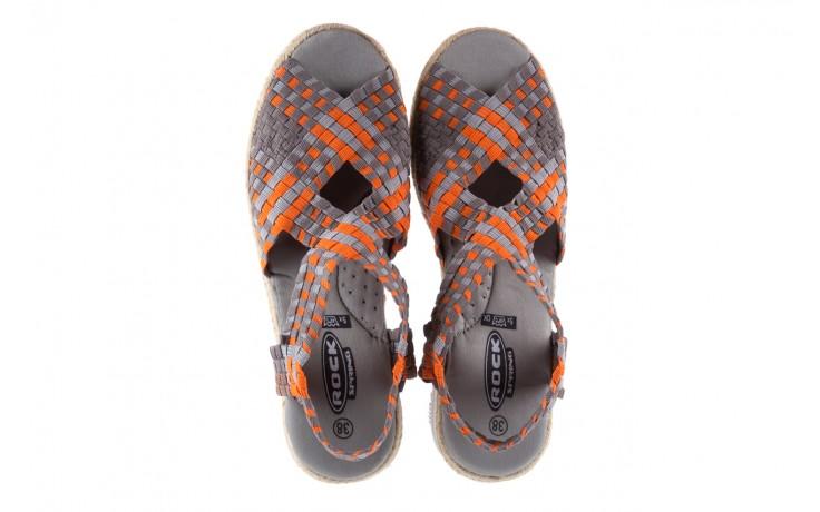 Sandały rock dafoa grey orange dark grey, pomarańczowy/szary, materiał  - rock - nasze marki 4
