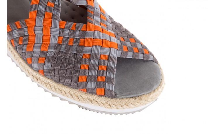 Sandały rock dafoa grey orange dark grey, pomarańczowy/szary, materiał  - rock - nasze marki 5