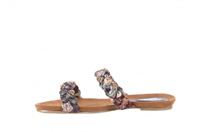 Klapki rock flora brown, wielokolorowy, materiał - klapki - letnie hity cenowe 2