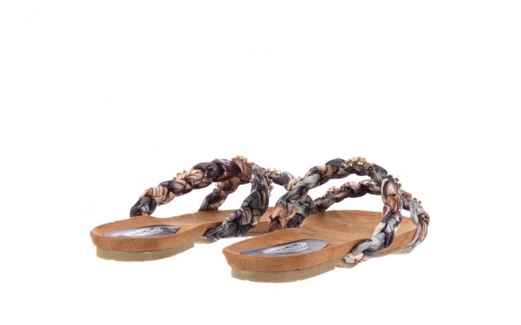 Klapki rock flora brown, wielokolorowy, materiał - klapki - letnie hity cenowe 3