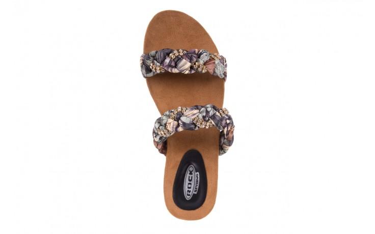 Klapki rock flora brown, wielokolorowy, materiał - rock - nasze marki 4