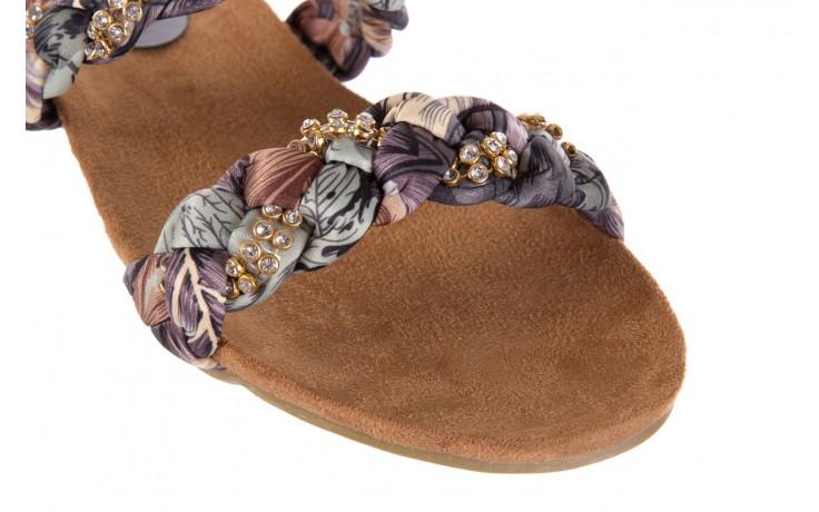 Klapki rock flora brown, wielokolorowy, materiał - klapki - letnie hity cenowe 5