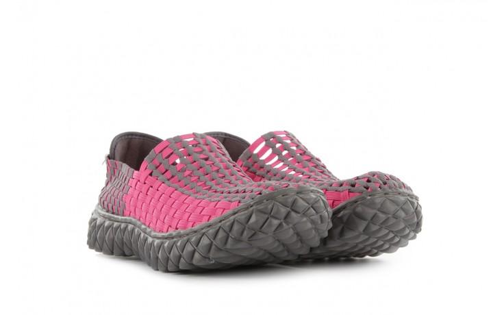 Sandały rock full breath fuchsia-grey, róż/ szary, materiał - rock - nasze marki 1