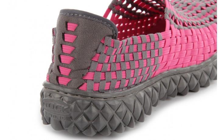 Sandały rock full breath fuchsia-grey, róż/ szary, materiał - rock - nasze marki 6