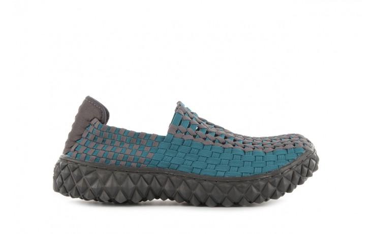 Sandały rock full breath petrol-grey, niebieskie/ szary, materiał