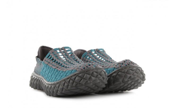 Sandały rock full breath petrol-grey, niebieskie/ szary, materiał  - rock - nasze marki 1