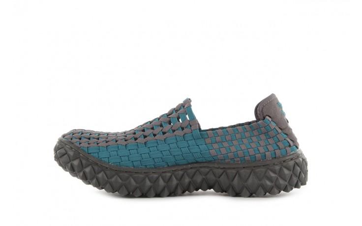 Sandały rock full breath petrol-grey, niebieskie/ szary, materiał 2