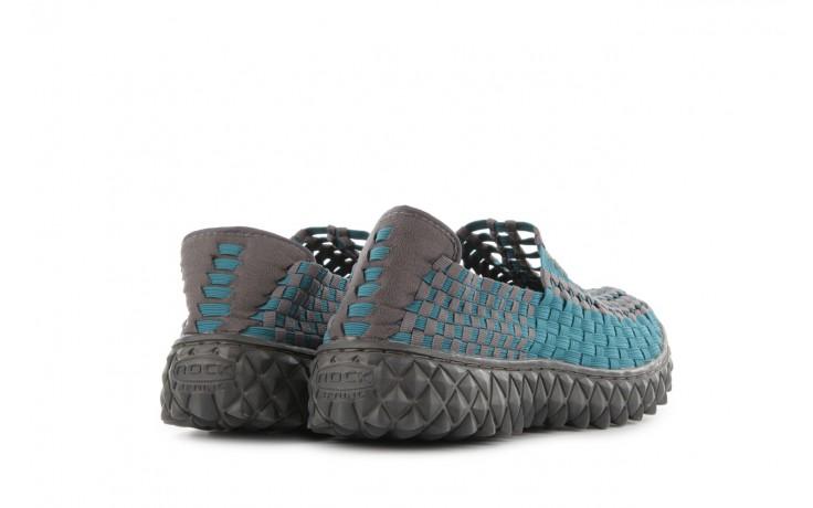 Sandały rock full breath petrol-grey, niebieskie/ szary, materiał 3