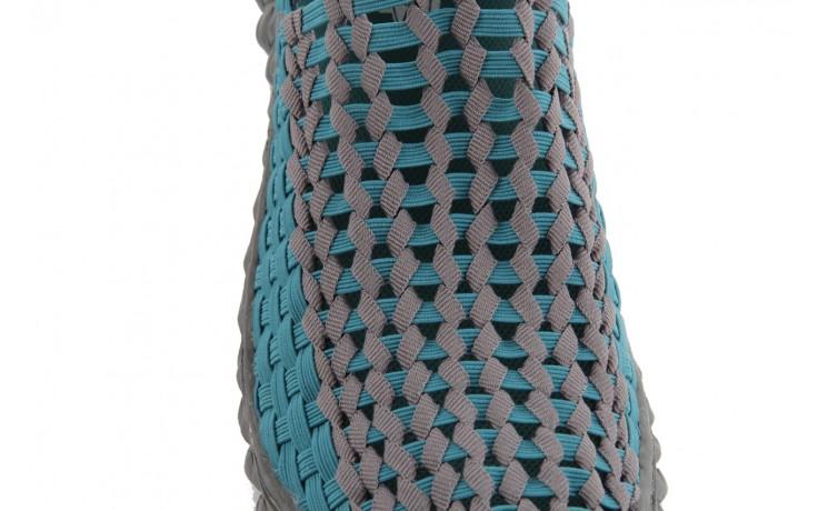 Sandały rock full breath petrol-grey, niebieskie/ szary, materiał 6