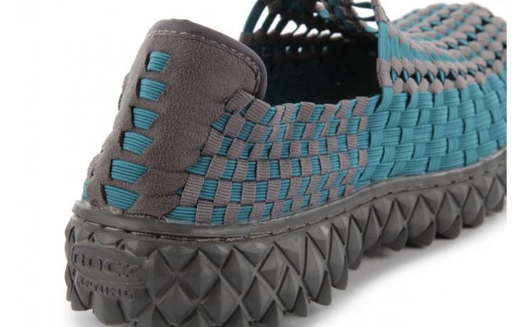 Sandały rock full breath petrol-grey, niebieskie/ szary, materiał  - rock - nasze marki 7