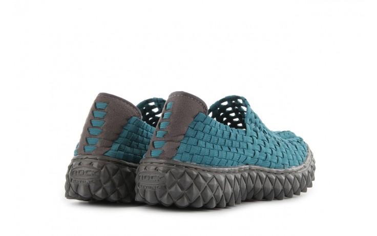 Sandały rock full breath petrol, niebieskie, materiał 3