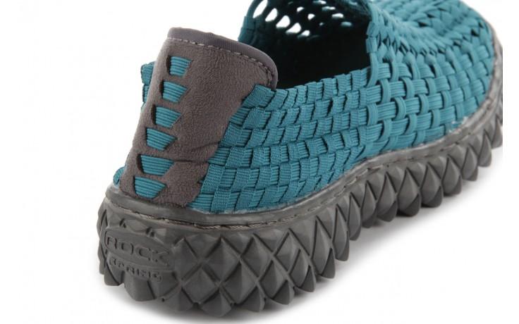 Sandały rock full breath petrol, niebieskie, materiał 7