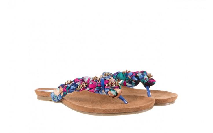 Klapki rock herba blue violet, wielokolorowy, materiał - japonki - klapki - buty damskie - kobieta 1
