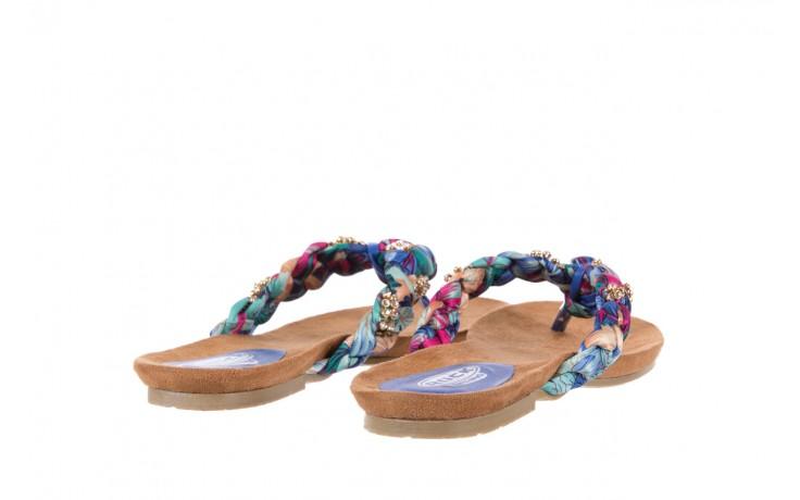 Klapki rock herba blue violet, wielokolorowy, materiał - japonki - klapki - buty damskie - kobieta 3