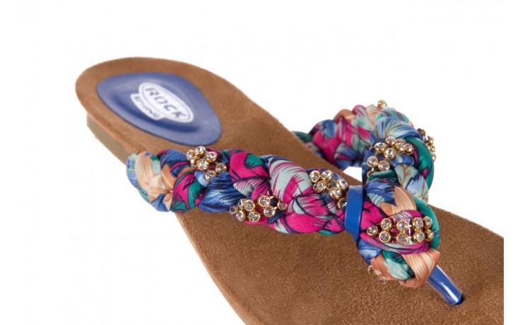 Klapki rock herba blue violet, wielokolorowy, materiał - japonki - klapki - buty damskie - kobieta 5