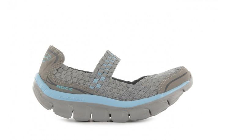 Sandały rock miami over grey-blue, szary/ niebieski, materiał - rock - nasze marki
