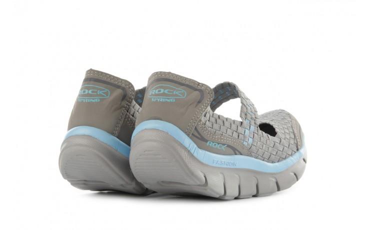 Sandały rock miami over grey-blue, szary/ niebieski, materiał - rock - nasze marki 3