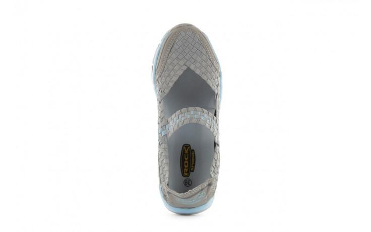 Sandały rock miami over grey-blue, szary/ niebieski, materiał - rock - nasze marki 4