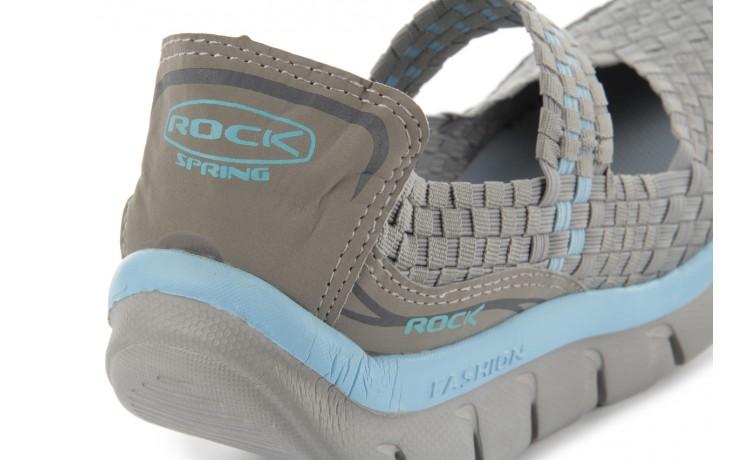 Sandały rock miami over grey-blue, szary/ niebieski, materiał - rock - nasze marki 6