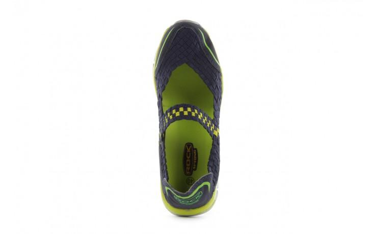 Sandały rock miami over navy-green, czarny/ zielony, materiał  - rock - nasze marki 4