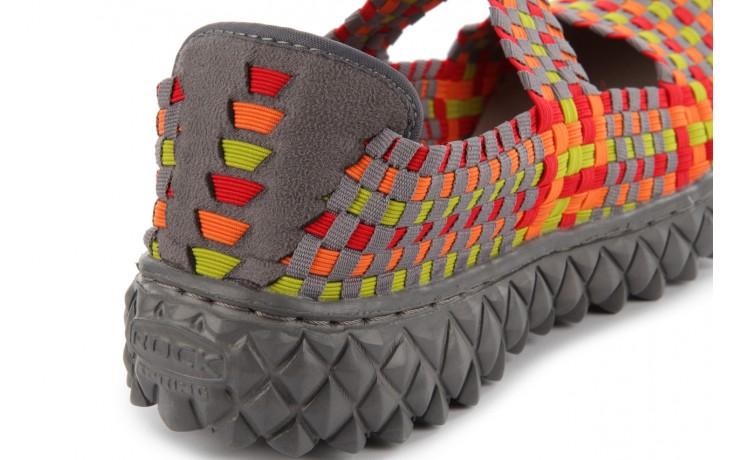 Sandały rock over mix red-orange-green-grey, czerwony/pomarańcz/zielony/szary, materiał - rock - nasze marki 6