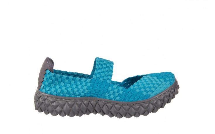 Sandały rock over aqua, niebieski, materiał - rock - nasze marki