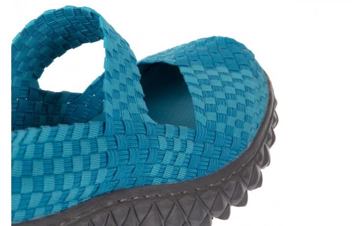 Sandały rock over aqua, niebieski, materiał - rock - nasze marki 5