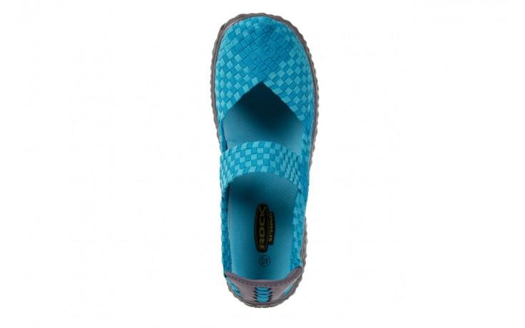 Sandały rock over aqua, niebieski, materiał - rock - nasze marki 4