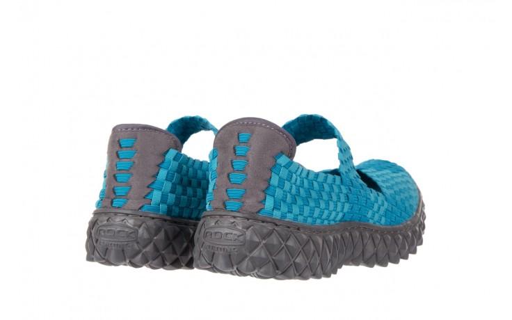 Sandały rock over aqua, niebieski, materiał - rock - nasze marki 3