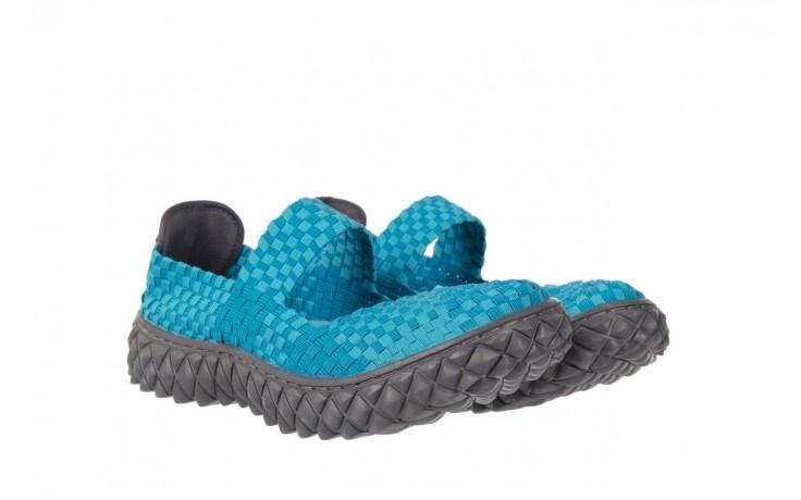 Sandały rock over aqua, niebieski, materiał - rock - nasze marki 1