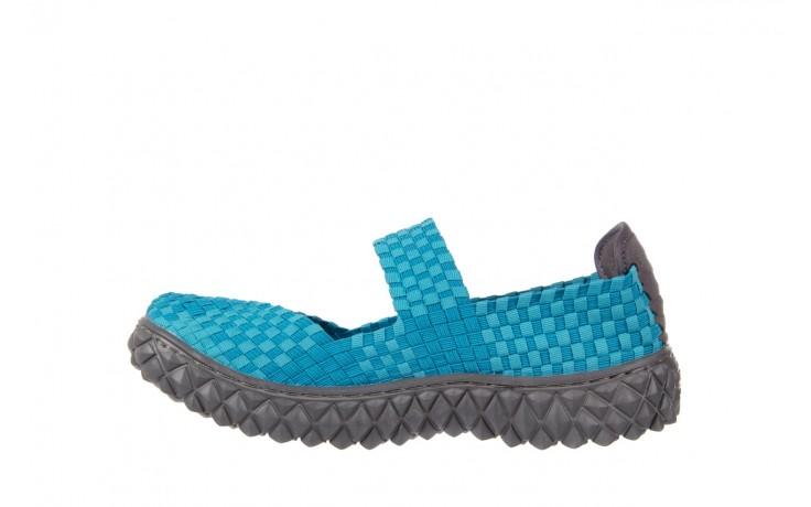 Sandały rock over aqua, niebieski, materiał - rock - nasze marki 2