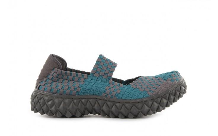 Sandały rock over petrol-grey, niebieski/ szary, materiał - rock - nasze marki