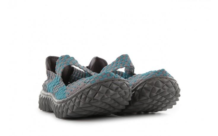 Sandały rock over petrol-grey, niebieski/ szary, materiał - rock - nasze marki 1