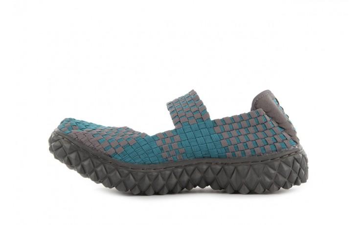 Sandały rock over petrol-grey, niebieski/ szary, materiał - rock - nasze marki 2